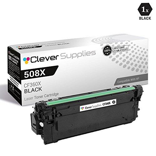 CS Compatible Toner Cartridge Replacement for HP 508X CF360X Black Color Laserjet Enterprise M533X M552DN M553DN Color Laserjet Enterprise M553N M577C M577DN M577F M577Z (1 Pack Black)