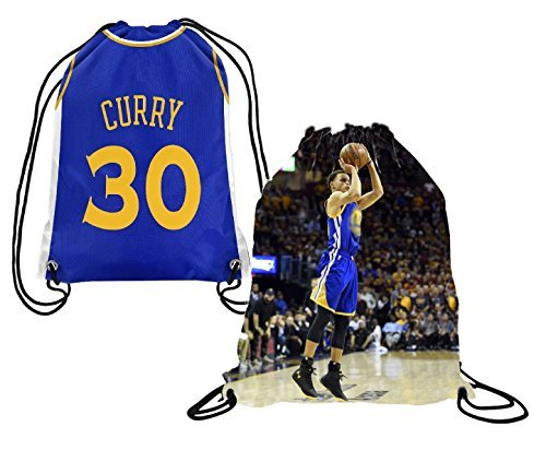 d7d9b6bfe0ff Majestic Intersport Steph Curry Jersey Style Picture Basketball Drawstring  Backpack ✓ Premium Unique Drawstring Bag for