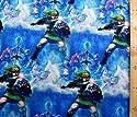 キャラクター生地・USAコットン・ゼルダの伝説(1パネル30) (ブルー)#5(キャラクター 生地 布 キャラクター生地 ピロル)