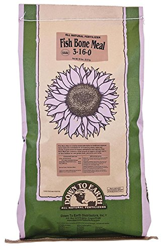 Organic Bone Meal - Down To Earth All Natural Fertilizers FB6955 Fertilizer, 50 lb, Brown/A