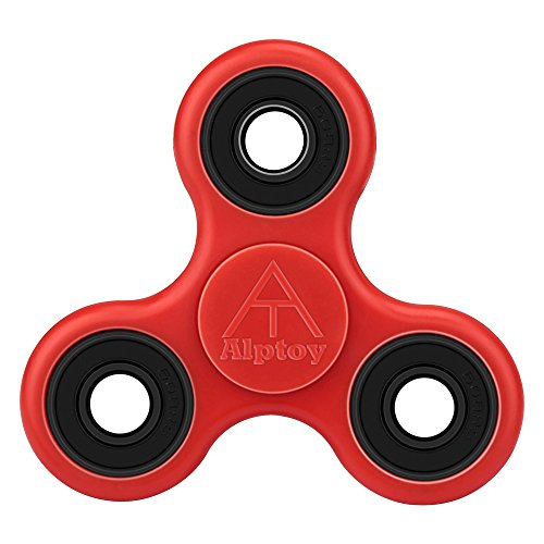 Alptoy The Anti-Anxiety 360 Spinner Helps Focusing Fidget Toys [3D Figit] Premium Quality EDC Focus Toy for Kids & Adults-Red Image