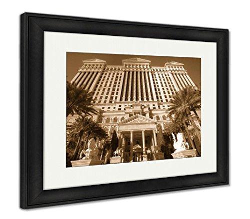Ashley Framed Prints Las Vegas Feb 3 Caesar Palace Hotel Temple Pool In Las Vegas  Wall Art Home Decoration  Sepia  26X30  Frame Size   Black Frame  Ag6430162