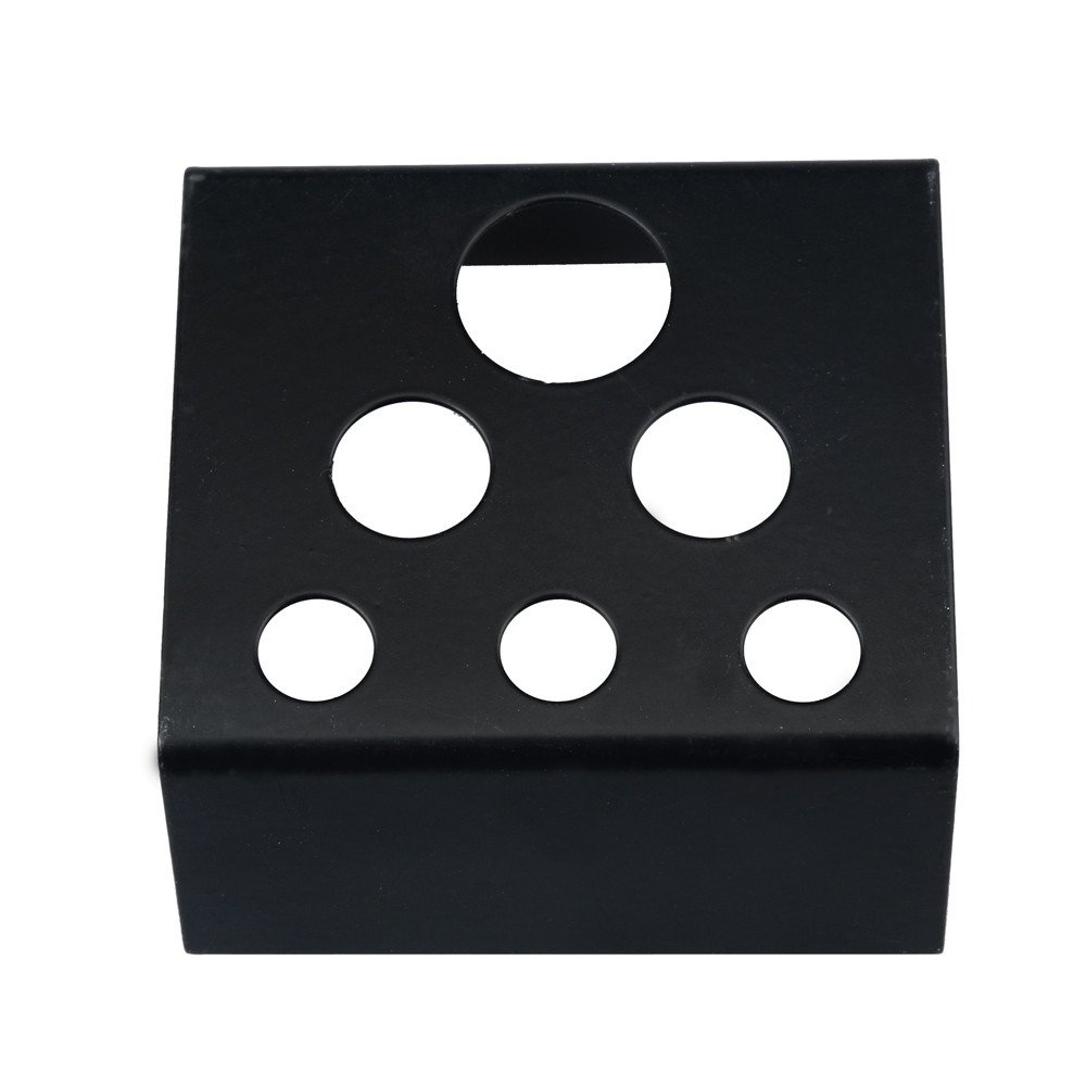 Tattoo Ink Holder Stand Iron 7 Holes Large and Small Tattoo Pigment Ink Cup Cap Stand Holder Tattooing Supplies Durable and Easy to Clean (Black)