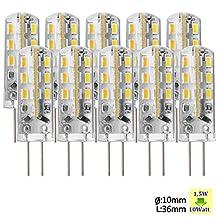 Sunix® 10pcs High Power G4 1.5W 24 SMD 3014 LED Silicone Spotlight Bulb Lamp Warm White SU020