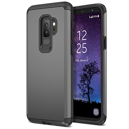 Trianium Protanium Galaxy S9 Plus Case with GXD Impact Gel Cushion and Reinforced Hard Bumper Frame [Premium Protection] Heavy Duty Covers For Samsung Galaxy S 9 Plus (2018) Phone - Gunmetal (Reinforced Spine)