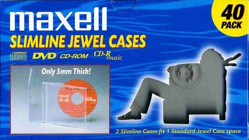 Maxell 190074 Jewelcase Slim 40Pk Clear