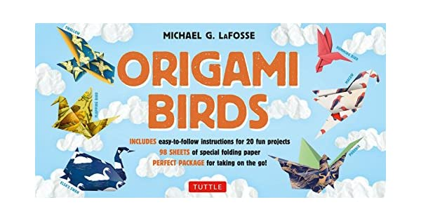 Amazon.com: Origami Birds Kit: Make Colorful Origami Birds ...