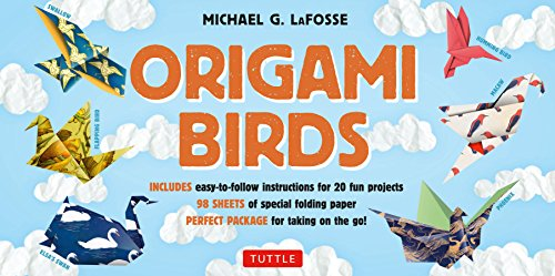 Origami Birds Kit: Make Colorful Origami Birds with This Easy Origami Kit: Includes 2 Origami Books, 20 Projects & 98 High-Quality Origami (Origami Swan)