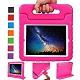 NEWSTYLE Apple iPad 2 3 4 Shockproof Case Light Weight Kids Case Super Protection Cover Handle Stand Case for Kids Children for Apple iPad 4 - iPad 3 & iPad 2 2nd 3rd 4th Generation (Rose)