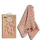 Milkbarn Organic Cotton Swaddle Blanket - Rose Fawn