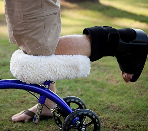 KneeRover Universal Knee Walker Knee Rest Pad Cover - Plush Synthetic Sheepskin Pad for Rolling Scooter by KneeRover (Image #2)
