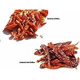 Jalpur Millers Spice Combo Pack - Birds Eye Chillies 50g - Kashmiri Red Chillies 50g (2 Pack)