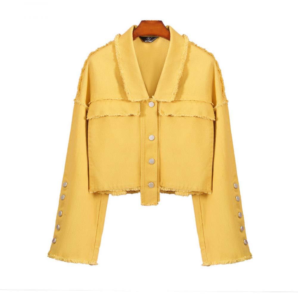 JIAKENVDE Herbst Asymmetrische Kurze Jeansjacke Frauen Vintage Harajuku Übergroße Jeans Mantel Mädchen Lose Jacke Oberbekleidung