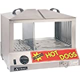 Adcraft HDS-1200W Side-by-Side Hot Dog & Bun Steamer, 18.25-Inch x 14.5-Inch x 15-Inch, 1200w, 120-Volt