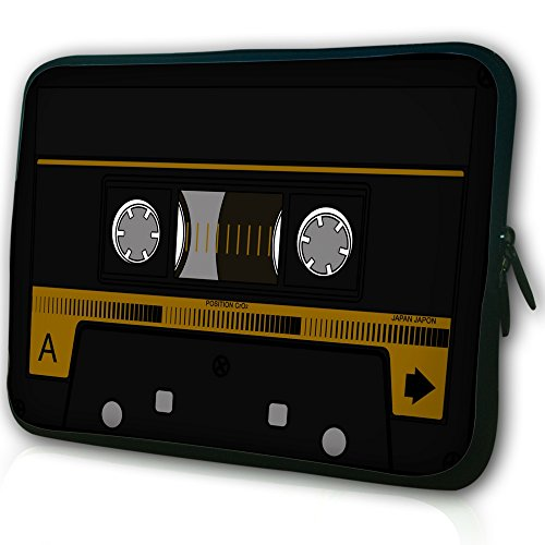 """Waterfly® Cassette Tape Pattern 11.6"""" 12"""" 12.1"""" 12.2"""" Laptop Case Bag For DELL Latitude E6230 XT2 XPS Duo/ Samsung 350U 400B / ASUS B23 /HP 4230S 2560P/Thinkpad X230 X220/TOSHIBA U920T/intel Letexo/Apple iBook Samsung And Most 11"""" 11.6"""" 12"""" 12.1"""" 12.5"""" Inch Laptop Chromebook Ultrabook Laptop"""