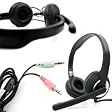 3.5mm PC Stereo Headphones/Headset with Microphone for Origin EON15-X | EON17-SLX | EON17-X | EVO15-S Gaming Laptops - by DURAGADGET
