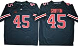 2016-2017 No.45 Archie Griffin College Football Throwback Jersey Mens Black M