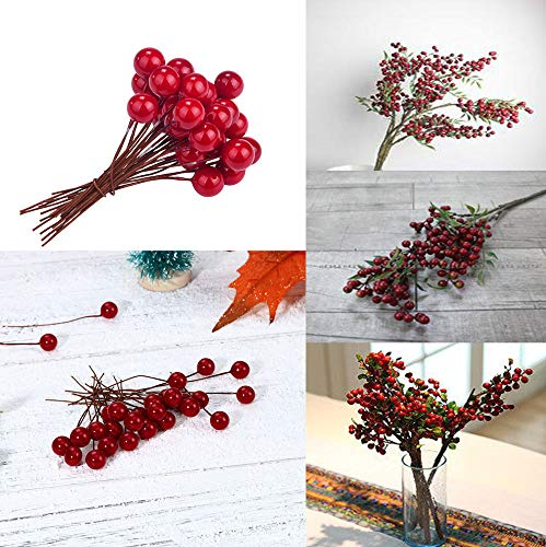 - Euone  Christmas Clearance , 30pcs Mini Christmas Red Berries 10mm Simulation Berry Small Red Fruit Artificial Berry