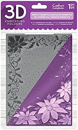 Holly And Ivy Frame Crafters Companion 3D Embossing Folder 5X7 Transparent