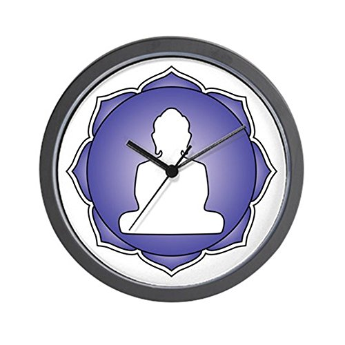 CafePress - Blue Lotus Buddha Wall Clock - Unique Decorative 10