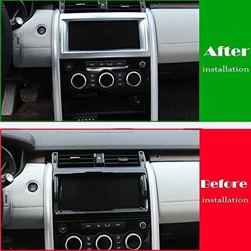 ランドローバーファインダー用 5内部ナビゲーションフレームトリム ABSクロームカーインテリア 改造アクセサリー Autozone