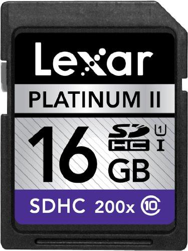 Lexar Platinum II 200x 16GB SDHC UHS-I Flash Memory Card LSD