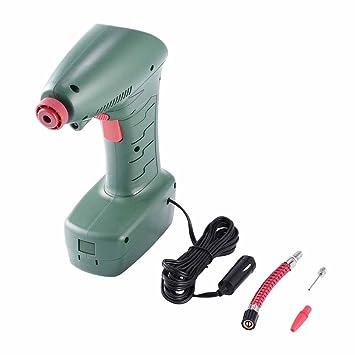 Compresor de aire tipo puntero de plástico eléctrico inflador de neumáticos bomba de emergencia herramienta portátil de mano para coche bicicleta, ...