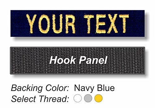 - TACTICAL IDENTIFICATION PATCHES Custom Embroidered Uniform Name Tapes on Twill Fabric - Hook Backing - Navy Twill Fabric