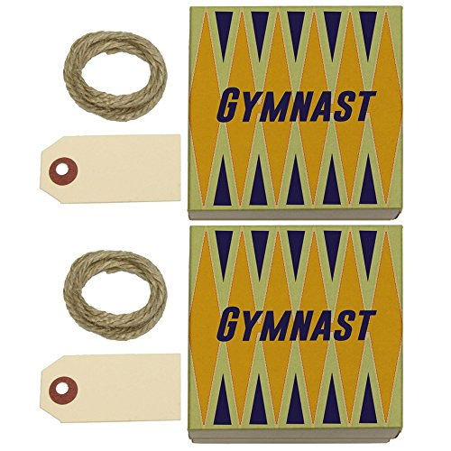Gymnast For the Love of Gymnastics Kraft Gift Boxes Set of 2