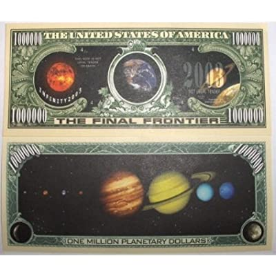 American Art Classics Pack of 5 - Solar System Million Dollar Bills: Toys & Games