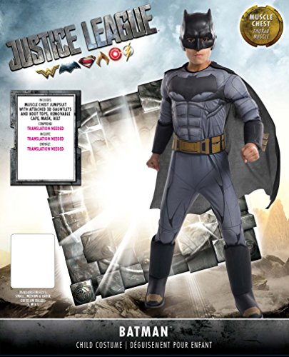 Rubie's Costume Boys Justice League Deluxe Batman Costume, Small, Multicolor - http://coolthings.us