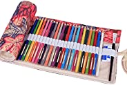 Pencils Cases for School, TopRay Multipurpose 72 Slots Travel Drawing Coloring Pencil Roll Organizer for Artis
