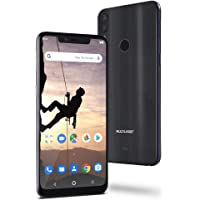 "Smartphone Multilaser MS80X 4G Android 8.1 Qualcomm 4GB RAM e 64GB Tela 6,2""HD Câm Traseira 12MP+5MP Cam Frontal 16MP Preto - NB743 NB743"