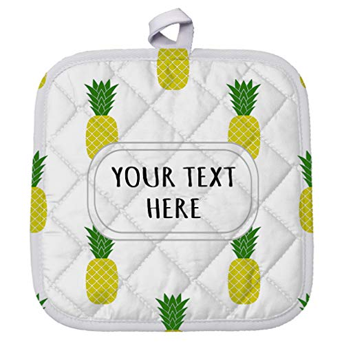 Polyester Pot Holder Custom Pineapple Seemless Pattern A Adults Trivets