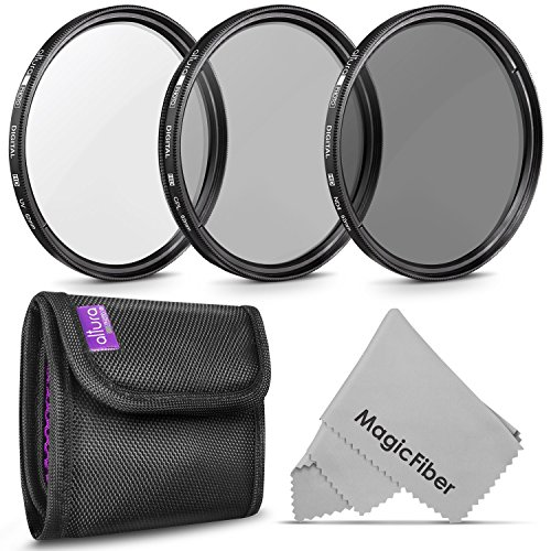 67MM Altura Photo Professional Photography Filter Kit (UV, CPL Polarizer, Neutral Density ND4) for Camera Lens with 67MM Filter Thread + Filter Pouch