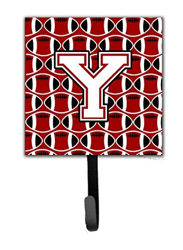 Carolines Treasures Letter Y Football Cardinal and White Leash or Key Holder CJ1082-YSH4 Small Multicolor