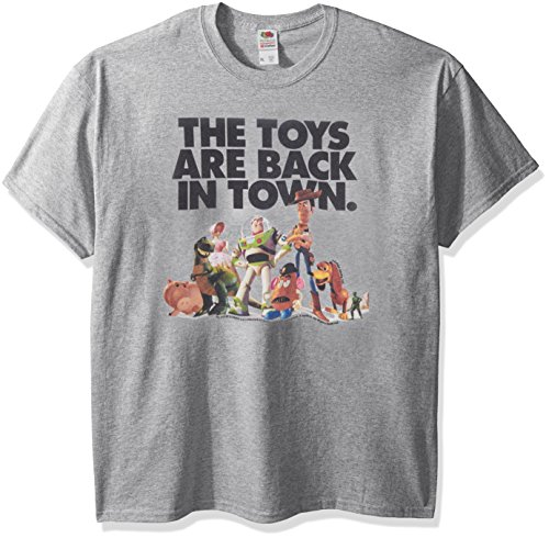 (Disney Men's Story The Toys are Back in Town Graphic T-Shirt, Athletic Heather)