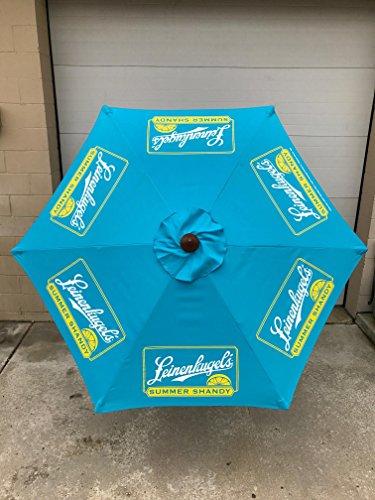 (Leinenkugel's Summer Shandy Beer 7' Ft Patio Umbrella - Wood Grain Metal Pole)