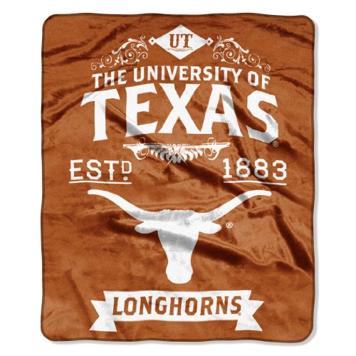 NCAA Texas Longhorns College Label Raschel Throw, 50 x - Outlet In Malls Texas