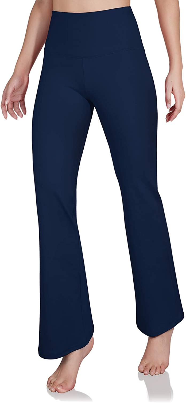 ODODOS Womens Boot-Cut Yoga Pants Tummy Control Workout Non See-Through Bootleg Yoga Pants