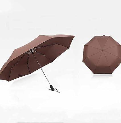 BiuTeFang Paraguas paraguas automático aumentar 125cm paraguas negocio refuerzo paraguas anti-viento paraguas plegable 27