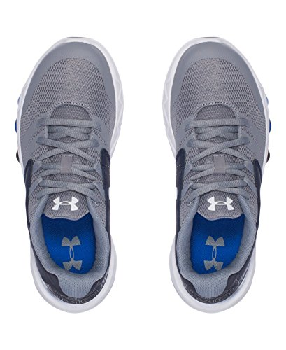 Under Armour Jongens De Lagere School Gegrond Staal / Midnight Navy / Wit