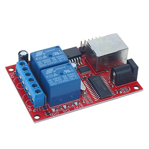 TOOGOO(R) LAN Ethernet 2-way Relay Board Delay Switch TCP/UDP Controller Module WEB server