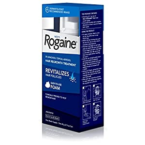 Men's Rogaine Hair Loss & Hair Regrowth Treatment Minoxidil Foam, One Month Supply