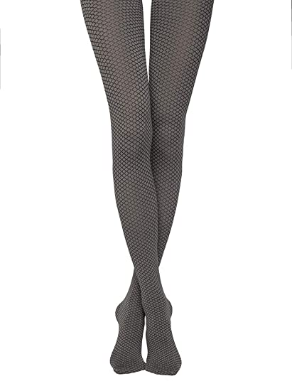 NEW WOMENS LADIES DIAMOND PATTERNED THICK LYCRA 70 DENIER OPAQUE TIGHTS SIZE