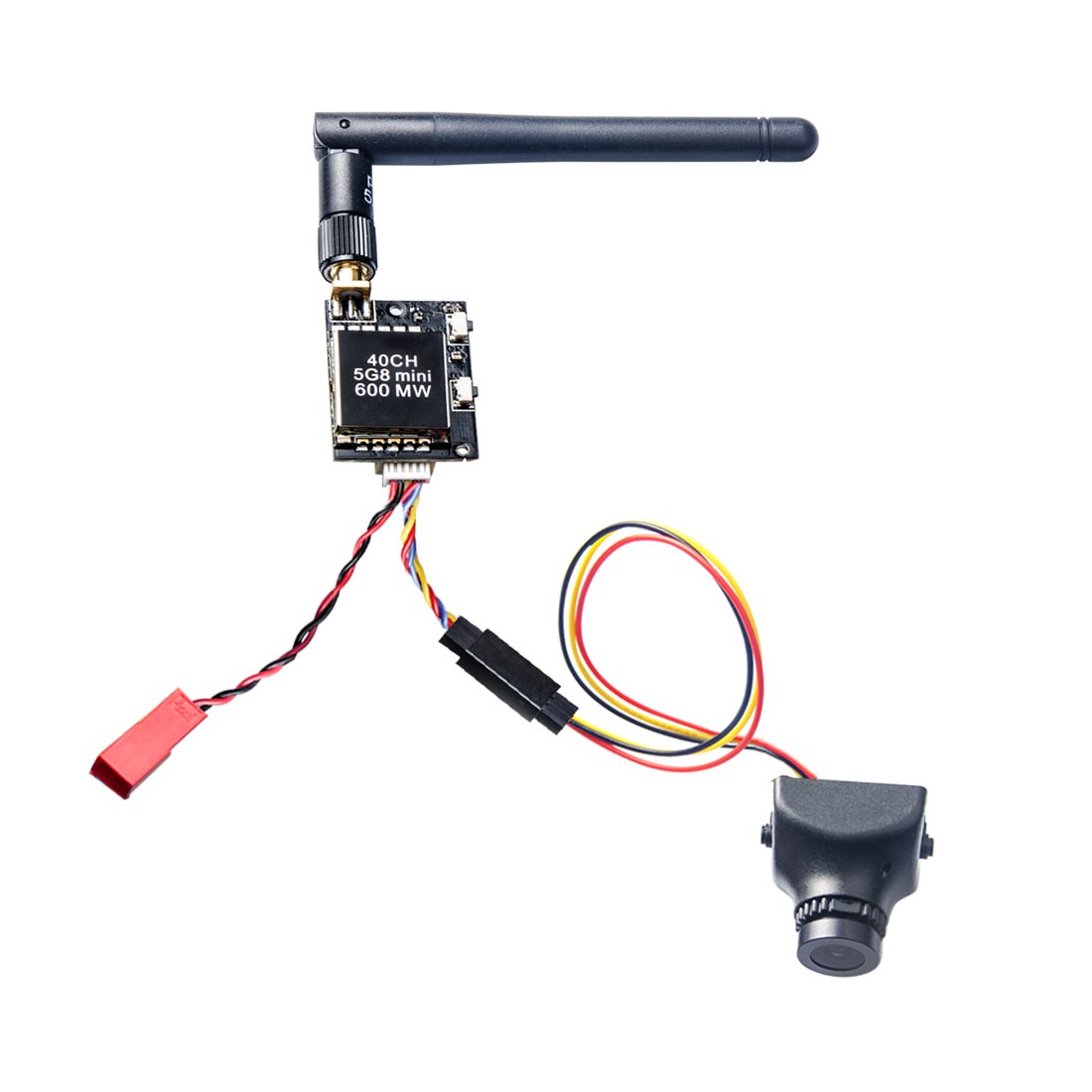 AKK KC04 5.8G 40Ch 600mW Transmitter 700TVL 2.8mm 120 Degree FPV Camera for Racing Quadcopter