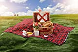 Modern Wicker Picnic Basket Hamper Set by Weirwood