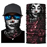 CapsA Novelty Bandanas for Men Women Face Shield for Music Festivals Variety Magic Face Mask for Riding Outdoors Cycling Motorcycle Head Scarf Neck Balaclava Headband Sunscreen Dust Protection
