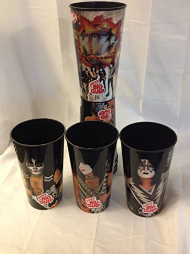 Child Star Signed - KISS 7-ELEVEN SUPER BIG GULP PLASTIC DRINKING CUPS 7 1/2