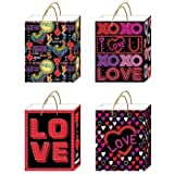 DDI 2285876 Matte Finish Large Neon Valentine Hot Stamp Bags with Die Cut Gift Tag in 4 Designs Case of 120